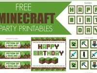 Minecraft party ideas for birthdays  --   Minecraft and Creeper cakes, decorations, party foods and favors. See more party ideas at CatchMyParty.com.