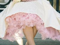 Pink wedding dresses,flowers,table settings, a wedding of pink