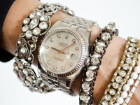 """""""bling"""", exagerrated stacks of arm candy, aka sweet pieces, statement or minimalist accessories!!"""