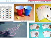 These are math games with and without technology and ideas for creating math stations or centers.