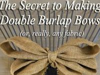 Ideas for using burlap in your wedding...decor, favors, centerpieces, runners, and other thoughts.