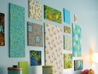 Fabric Covered Canvas Wall Decor