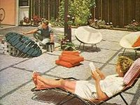 40's, 50's & 60's, mid-century, housewifery, home decor, homes...basically everything I wish I was born into.