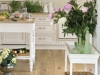 Farmhouse, Rustic, Romantic, Distressed Cabinets, Copper Sinks, Dishes, Windows, Floors, Tips, Appliances, Bowls, Measuring Cups, Aprons, Rugs