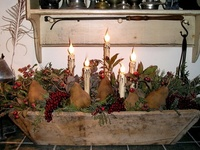 30 best Prim Centerpieces images on Pinterest | Christmas decor, Natal and Rustic christmas