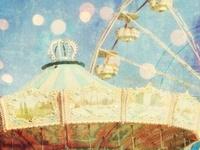 carrousel, farris wheel & carnival rides