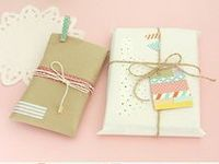 Nothing like brown paper packages tidied up with string... adding your own personal touch.