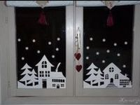 1000 images about papiers decoupes on pinterest for Decoration fenetre noel blanc