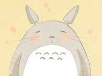 Totoro, totoro. Totoro, tororo. You only see him when you're very young, a magical adventure for you!