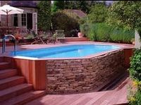 1000 Images About Above Ground Pool Ideas On Pinterest