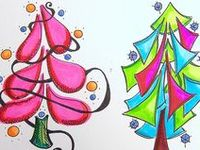 Holiday & Seasonal Doodles/Coloring pages