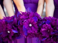 Ideas and inspiration for using the colors purple and blue in your wedding color scheme. {www.weddingcolors.net}