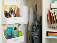 Different and various ideas of organizing areas of the house.  Many are DIY and some need to be purchased.  I love to be organized and hope to benefit from many of these.