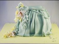 novelty cakes based cake on the theme of  handbags bags luggage and suitcases