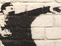 Urban art. Street art. Graffiti. Stencils. Chalk Art. And sometimes just kind of art.  Art de rue. Arte de la calle. Straßenkunst. Arte di strada.