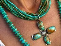 Born in Wyoming where beautiful turquoise was mixed with the gravel on the side of the road.
