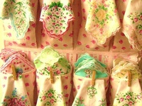 Vintage Hanky ideas.They are such pretty works of art.