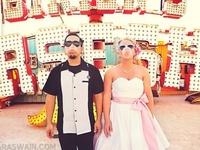 Rockabilly, psychobilly, burlesque, retro, vintage, and cirque wedding inspiration!