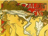 This board is dedicated to David Dague, the man who taught me all about Mucha the father of commercial art!  Alfons Maria Mucha[1][2] (Czech: [ˈalfons ˈmuxa] ( listen); 24 July 1860 – 14 July 1939), often known in English and French as Alphonse Mucha, was a Czech Art Nouveau painter and decorative artist,[3] known best for his distinct style. He produced many paintings, illustrations, advertisements, postcards, and designs.