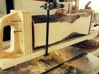 Woodworking - Planks, Log split & Lumber storage