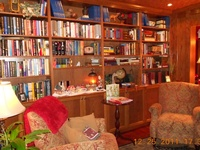 Books, books and more books on the shelves!