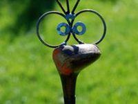 Garden Art, Junque, glass towers