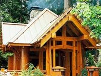 """""""There are elements of intrinsic beauty in the simplification of a house built on the log cabin idea.""""  -  Gustav Stickley"""