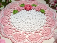 Whether knit or crocheted the designs of doilies are endless. My favorite designs appear in Magic Crochet and Decorative Crochet magazines back in the day. I also have a large collection of vintage books because I love to crochet