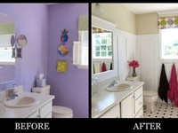 I love before and after shots but I especially enjoy those that involve home decor and are both creative and low cost.