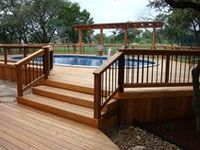 Check out all the amazing above ground pool deck idea's   you have today.  http://www.abovegroundpoolbuilder.com/above-ground-pool-deck-ideas/