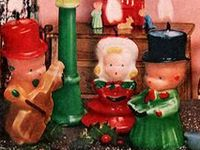Vintage Christmas Candles