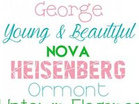 Free Fonts and printables. Typography inspiration.