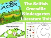 Printables, Crafts, and ideas for Kindergartners all centered around the book, The Selfish Crocodile.