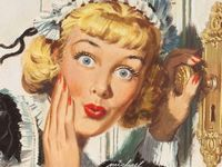 Vintage, retro, printables, images, ads, illustrations, ephemera of women