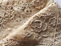 I just love the feel and look of natural LINEN ... so beautiful to wear .. I love LACE ... so intricate ....
