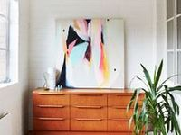 Ways to display and hang art in your home.