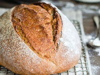 proper crusty bread: all types of loaves, sticks and buns. So few sweet or fancy breads...