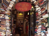 When I walk into a space filled with books, I get the best feeling.  It's like when you are a bit chilly and someone just wraps you in a soft, warm blanket. I feel that way when I read, too.