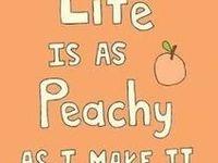 rosy peach, peach, and coral shades...