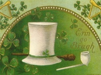 St.Patricks Day Cards - Victorian Style