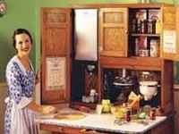 I love Hoosier Cabinets not only for their beauty and step saving function but also because my Grandparents worked there. They were married in 1919 and moved from Clinton Co., Ky. to New Castle, Ind. where some of the family lived and went to work at the Hoosier Mfg. Co.  They were there for only a short while because my Grandfather was a born farmer and missed the farm life in the hills of Kentucky.