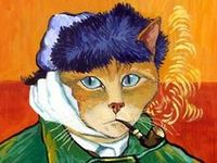 Cats are featured in Art throughout the centuries. I especially like them in Costume.