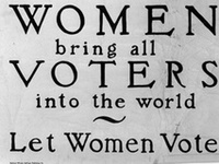 """""""Suffrage is a common right of citizenship. Women have the right of suffrage. Logically it cannot be escaped."""" - Victoria Woodhull"""
