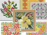 Embroidery, cross stitch, needlework