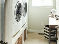 With a beautiful, organized laundry room...I may never come out~!