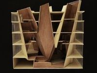 A collection of architectural models and maquettes