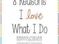 Rodan + Fields:  Aging Skin care products I started in December by Dermatologists Dr. Rodan and Dr. Fields who founded Proactive via my friend Ashley Hawke. I'm exploring becoming a consultant because I've seen great results and the results of others are remarkable. Check them out on my board
