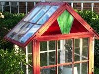 Garden Greenhouse / potting sheds Made from Recycled Windows & Doors / Green house from Recycled windows & Doors