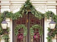 Christmas front door entry on pinterest christmas door christmas