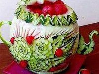 Carved fruit and veggies...